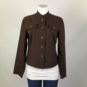 Tres You Brown Linen Jacket Size M
